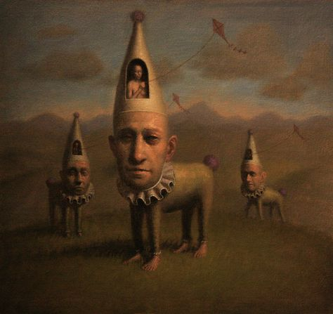 Creepy Paintings, Creepy Art, Weird Art, Marcel Duchamp, Surrealism Painting, Pop Surrealism, Vladimir Kush, Dali, Occult Art