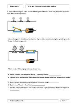 Electric Circuits Worksheet Simple Electric Circuit Electric Circuit Simple Circuit