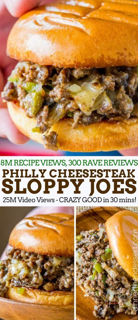 Philly Cheese Steak Sloppy Joes will make you forget your childhood canned sauce memories and make you LOVE sloppy joes again. Philly Cheese Steak Sloppy Joes will make you forget your childhood canned sauce memories and make you LOVE sloppy joes again. Beef Dishes, Food Dishes, Hamburger Meat Dishes, Main Dishes, Food Food, Philly Cheese Steaks, Philly Cheese Steak Sandwich Recipe Easy, Philly Cheese Sauce Recipe, Philly Cheese Steak Seasoning