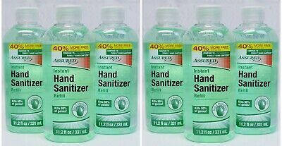 6 X Assured Instant Hand Sanitizer Refill 11 2 Oz Kills 99 Of