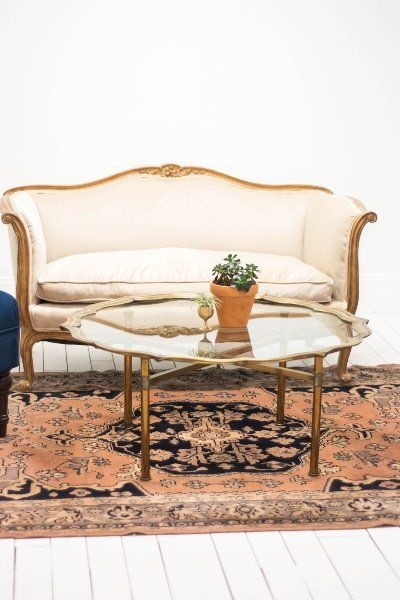 Our Collection Of Vintage And Modern Rental Furnishings Birch Brass Antique Persian Rug Wedding Decor Elegant Lounge Furniture