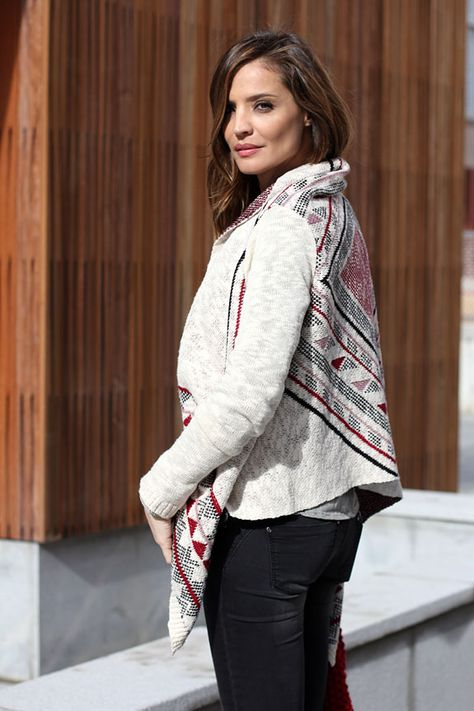 "Lady Adict ""knitted ethnic cardi"""