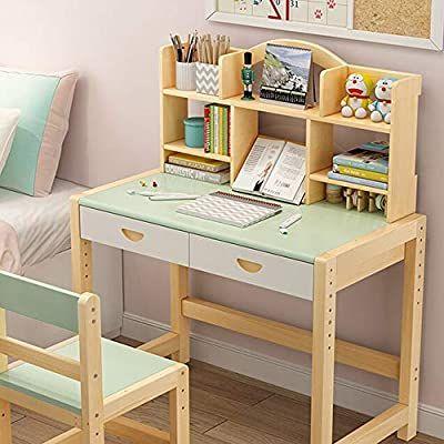 Amazon Com Lchao Muebles De Madera Para Ninos Escritorio Y Silla De Estudiante Estudio De Computa In 2020 Childrens Desk Desk And Chair Set Childrens Desk And Chair