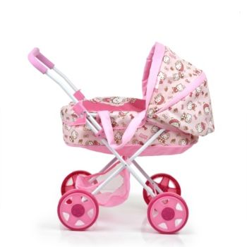 44++ Triple doll stroller pink with polka dots information