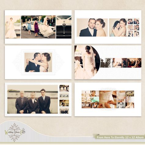 From Here To Eternity: Wedding Album Template for Photographers 12 x 12