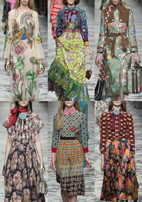 Granny chic trend Milan Fashion Week Womenswear Print Highlights Part 1 – Spring/Summer 2016