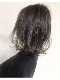 黒髪風グレージュアッシュshige ヘアスタイリング 最新ヘアスタイル