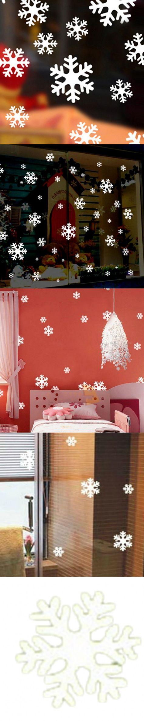 2016 Hot Beautiful White Christmas Snowflake Sheet Ornament Window Glass Sticker Home Decoration $3.86