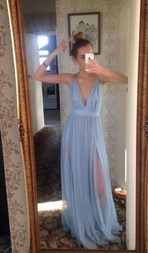 shopping Sexy Slit Prom Dress,Open Back...