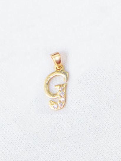 تعليقه ذهب عيار 18 حرف G تعليقة ذهب وان سايز Stud Earrings Earrings Jewelry