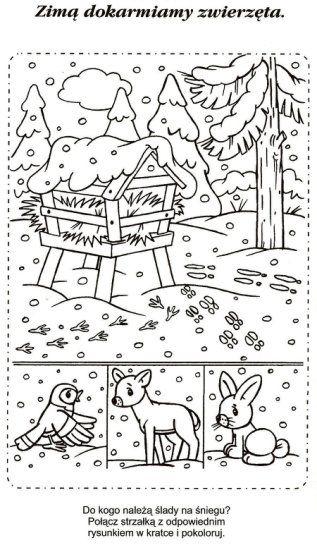 Najlepsze Obrazy Na Tablicy Karty Pracy Zima Swieta 21
