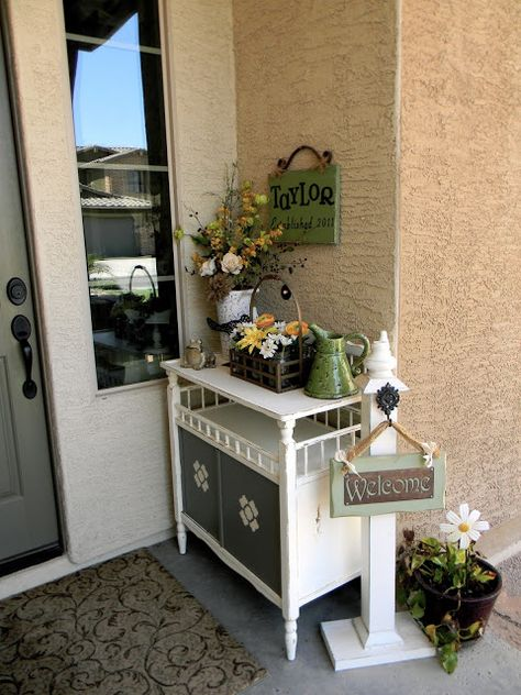 rustic repurposed changing table | Repurposed Changing Table – Little Bit of Paint