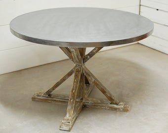 Zinc Top Zinc Table Top Outdoor Table Industrial Zinc Table Top