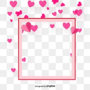 Simple Pink Heart Love Rainbow Valentines Day Elements Valentines Day Clipart Origami Heart Love Square Border Png Transparent Clipart Image And Psd File For Valentines Day Clipart Love Rainbow Pink Heart