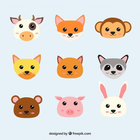 Download Faces Of Kawaii Animals For Free Cute Cartoon Animals Cute Dog Cartoon Cartoon Dog