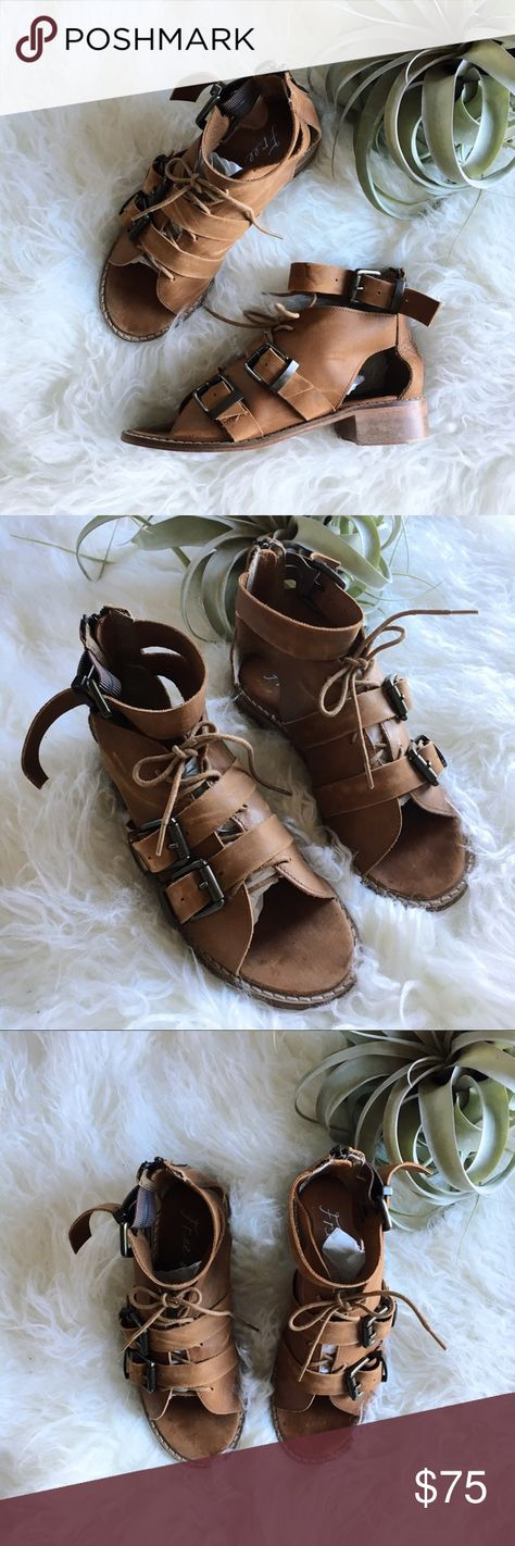 5ed4f95efd2e List of Pinterest lace up sandals heels free people images   lace up ...