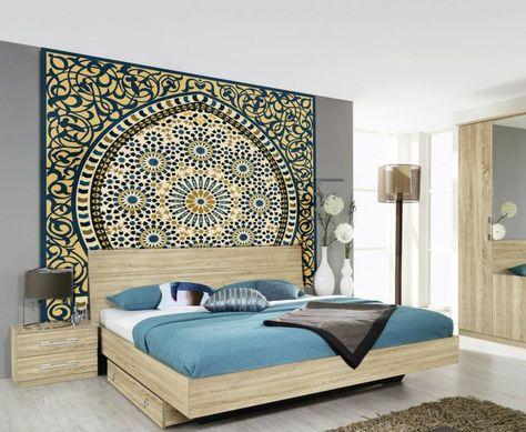 Tête De Lit Orientale Et Porte Marocaine Mobilier Bedroom Home