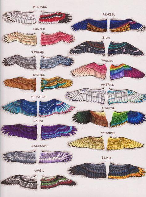 SPN Angel Wing Designs :: Page II by KalaSathinee on DeviantArt