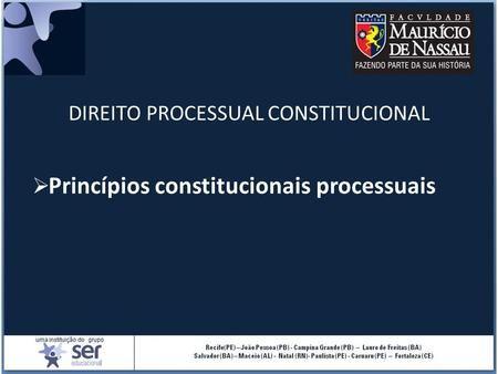 Nocoes De Direito Constitucional Constituicao Da Republica Ppt