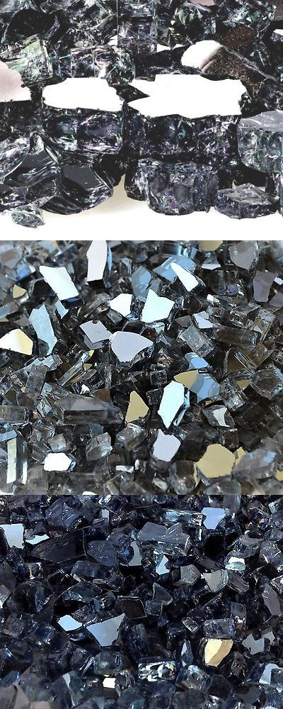 """Sparkling 1//2/"""" Premium Reflective Fire Glass for Fireplace and Fire Pit"""