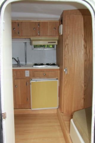 Half Pewter Boler Kitchen Loo Trailer Remodel