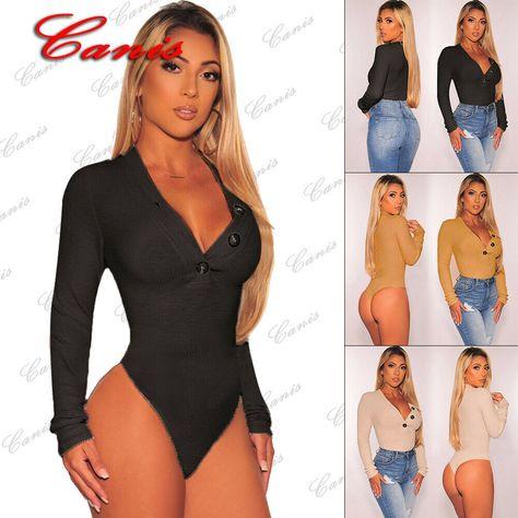 Women/'s Sleeveless Bodysuit Stretch Ladies Leotard Body Tops T shirt Jumpsuit