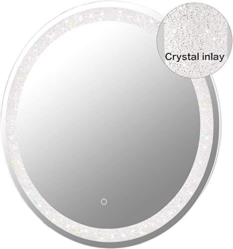 New Maggiic 30 Inch Round Led Bathroom Light Vanity Mirrors Anti Fog Ip44 Waterproof Cri 90 Ul Listed Online Shopping Nanakoshopping In 2020 Lighted Vanity Mirror Bathroom Lighting Mirror