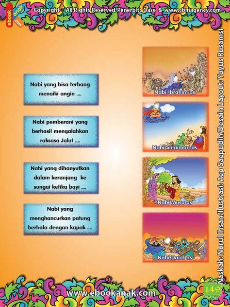 Lembar Aktivitas Paud Tk Menghubungkan Gambar Kisah 25 Nabi Dan