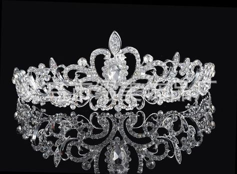 New Baroque Full Rhinestone Wedding Shining Large Crown Princess Luxury Tiara For Bride Queen Wedding Dance Hair Accessories Jewelry Sets & More Jewelry & Accessories