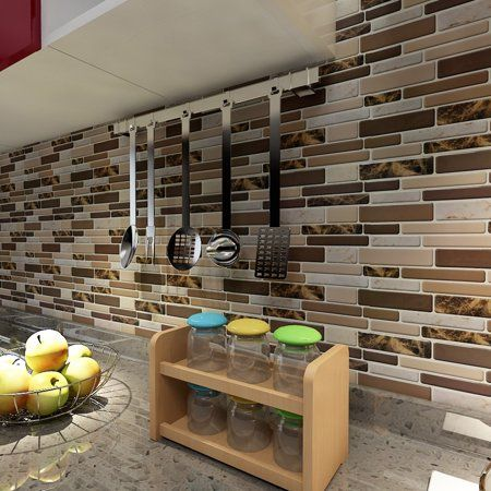 Art3d 12 X 12 Peel And Stick Tiles For Kitchen Backsplash Self Adhesive Wall Tile 3d Wall Sticker Walmart Com Peel And Stick Tile Stick On Tiles Self Adhesive Wall Tiles