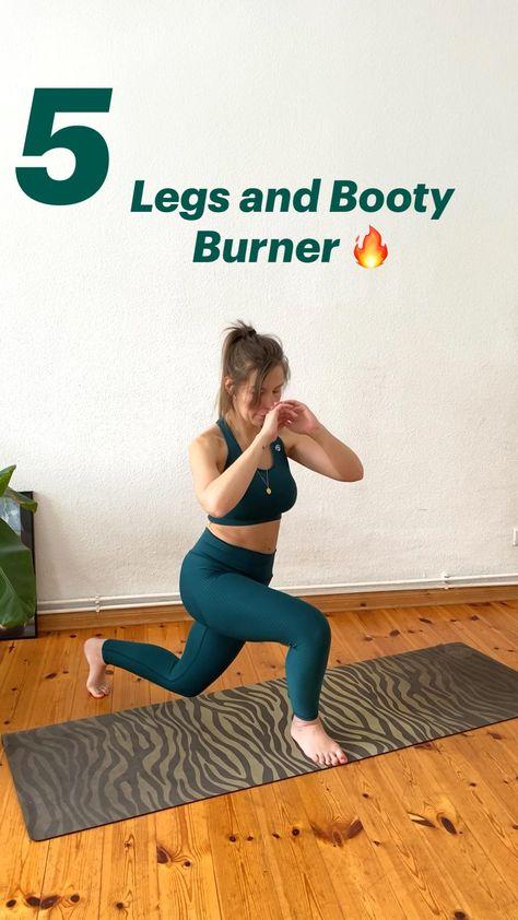 5 effektive Legs and Booty Burner - die besten Übungen für schlanke Beine und einen schönen Po