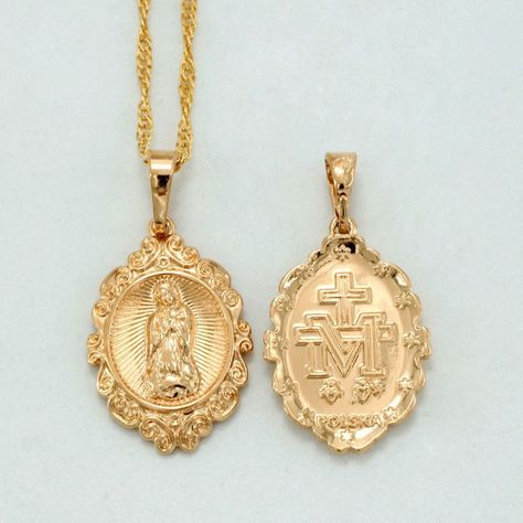 014243f51be Small Virgin Mary Necklaces for Women/Girl,Gold Plated Charm Our Lady Pendant  Necklace Polska Religious Jewelry Gifts #040304 #goldpendantnecklace