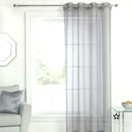 Elements Aspen Grey Sheer Eyelet Single Voile Panel Voile Panels Cool Curtains Voile Curtains