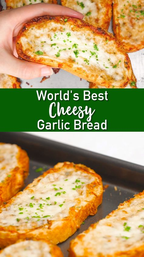 This homemade garlic bread recipe has the perfect ratio of garlic, paprika, parsley, butter, parmesan, and mozzarella cheese to make this garlic bread a favorite for all. It is easy to make, chesse-y, and the perfect side