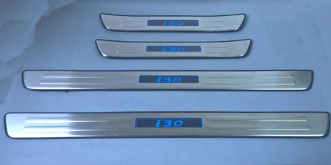 Chrome Led Blue Light Illuminated Door Sill Threshold Of Scuff Plate For Hyundai I30 2009 2010 2011 2012 2013 Interior Accessories Entry Doors Car Accessories