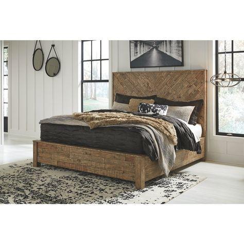 Loft Jamil Reclaimed Pine Panel Bed