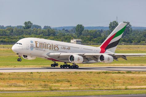 A380 EMIRATES Flughafen Düsseldorf