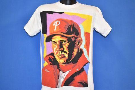 90s Philadelphia Phillies Lenny Dykstra T-shirt Youth Extra Large