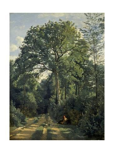 Giclee Print Ville D Avray Entrance To The Wood C 1825 By Jean