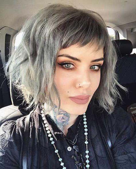 Layered Short Hair with Bangs