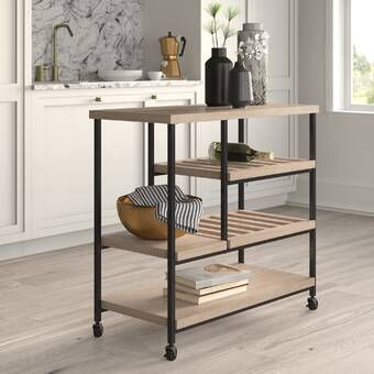 Fresnay Kitchen Cart With Wooden Top Kitchen Cart Home Decor Furniture