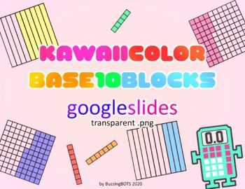 Base 10 Blocks On Transparent Background That Students And Teachers Can Easily Manipulate On Google Slides Math Manipulatives Google Slides Math Base 10 Blocks