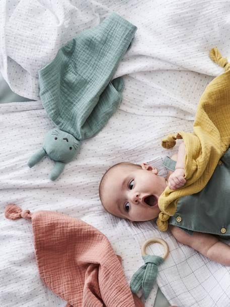 Baby Geschenk Set Schmusetuch Und Rassel Blau Grun Rosa Weiss