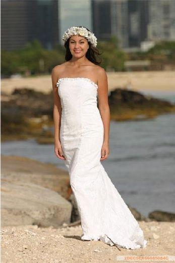 Trending Hawaiian Wedding TP C Hibiscus Panel White Mid Length Dress Dresses Pinterest