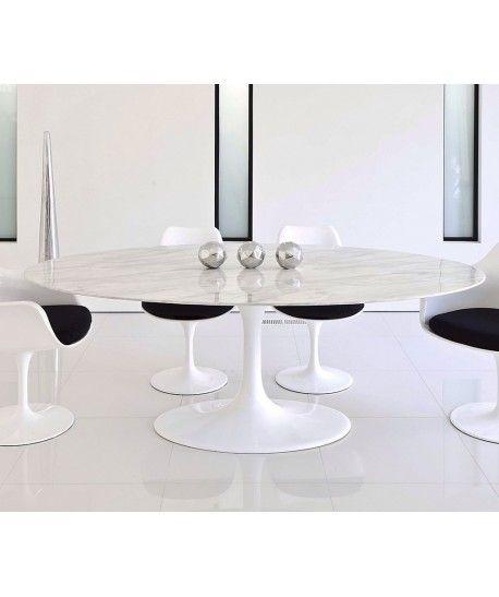 Mesa Tul Oval Fibra De Vidrio Marmol Blanco 180x100 Cms Mobidecora Mesas De Comedor Ovalada Fibra De Vidrio Mesas Con Marmol