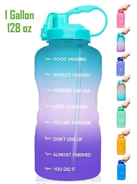 Venture Pal Large 1 Gallon 128 Oz When Full Motivational Bpa Free Leakproof Water Bottle In 2020 Bottle Water Bottle Health And Fitness Magazine