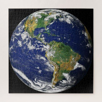Planet Earth From Space 676 Pc Jigsaw Puzzle Zazzle Com In 2020 Earth From Space Planet Earth From Space Summer Solstice