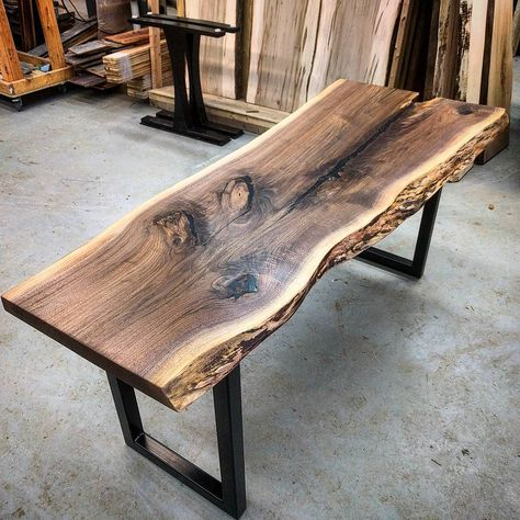 Last completed project before the holidays - a live edge black walnut desk.  This was an interesting slab that has tons of character.  After lots of epoxy and sanding we did a satin clear coat.  Finishing it off are simple 2x2 legs we had powder coated black satin.  #liveedge #liveedgeslab #liveedgewalnut #blackwalnut #barnboard #barnwood #barn #reclaimed #reclaimedwood #rustic #rusticwood #igers #oneofakind #toronto #hamilton #hamont #tdot  #cottage #muskoka #bestigwoodworking #mywworg #dowoodw