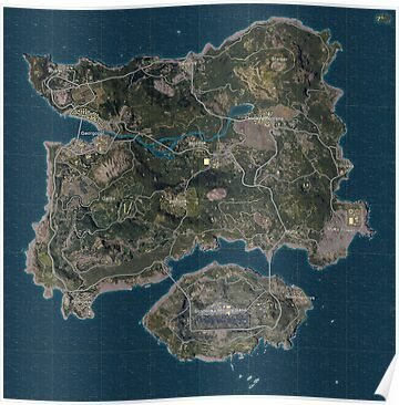 Pubg Erangel Map Playerunknown S Battlegrounds Poster By Butchmonkey In 2021 Map Wallpaper Gaming Wallpapers Mobile Wallpaper