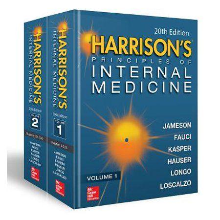 Harrison S Principles Of Internal Medicine Twentieth Edition Vol 1 Vol 2 Hardcover Walmart Com Harrison Medicine Internal Medicine Medicine Book